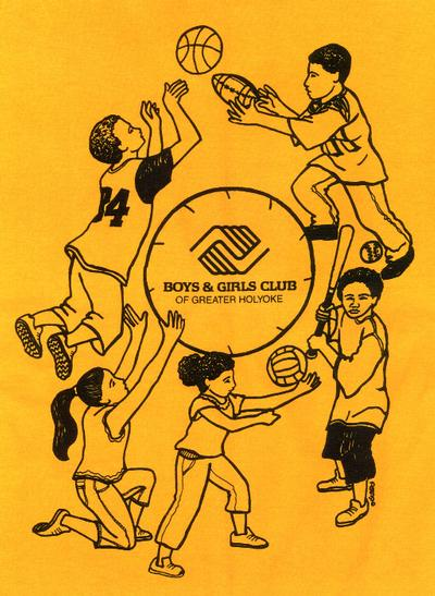 Holyoke Boys and Girls Club tee shirt design