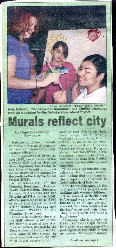 Newspaper Clippings: Youth Mural Projects